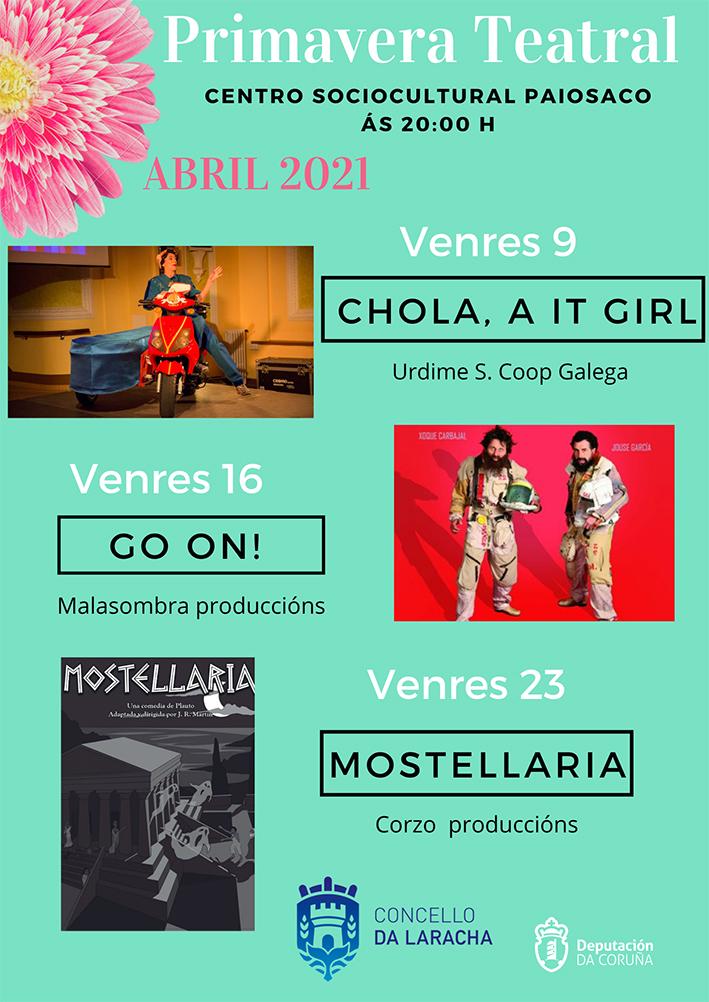 Primavera Teatral o venres 9 de abril en Paiosaco